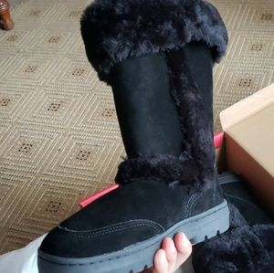 Style and co. Black Warm winter fuzzy boots